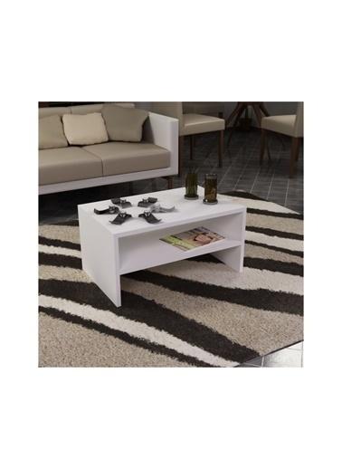 Cantek Pınar 40X41X60 Cm Orta Sehpa Beyaz